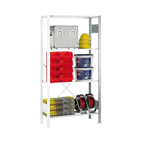 Stellingkast SCHULTE, aanbouwelement, verzinkt, schapbelasting 150 kg
