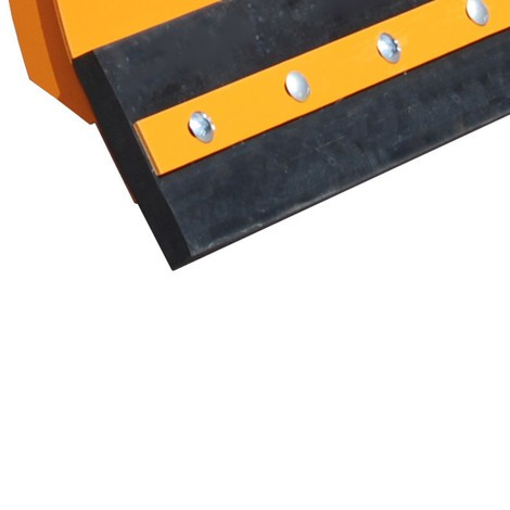 Replacement rubber scraper, for BASIC fork lift snow shovel