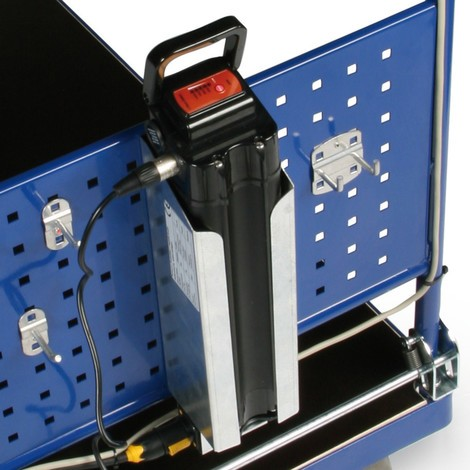 Reserveaccu voor elektrische plateauwagen
