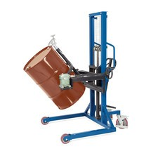 Retourneur de fûts 180°, capacité de charge 350kg