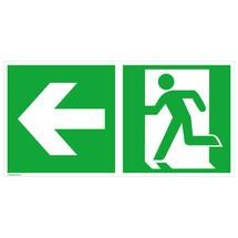 Rettungszeichen – Notausgang links, Pfeil links