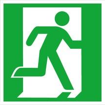 Rettungszeichen – Notausgang rechts, ohne Pfeil