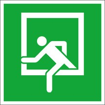 Rettungszeichen – Notausstieg