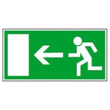 Rettungszeichen – Rettungsweg links