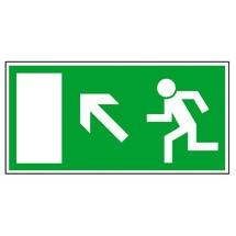 Rettungszeichen – Rettungsweg links aufwärts