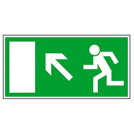 Rettungszeichen Rettungsweg links aufwärts