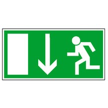 Rettungszeichen – Rettungsweg nach unten