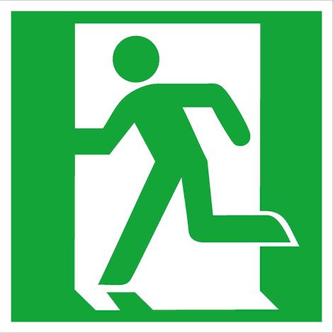Rettungszeichen Rettungsweg/Notausgang links (ohne Pfeil)