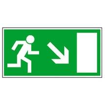 Rettungszeichen – Rettungsweg rechts abwärts