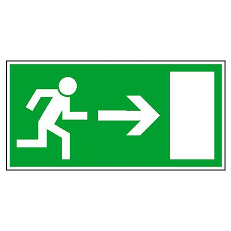 Rettungszeichen Rettungsweg rechts (Männchen läuft zur Tür)