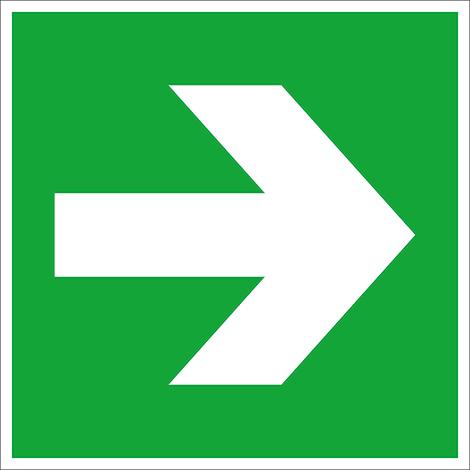 Rettungszeichen Richtungsangabe links/rechts