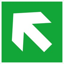 Rettungszeichen – Richtungspfeil aufwärts/abwärts