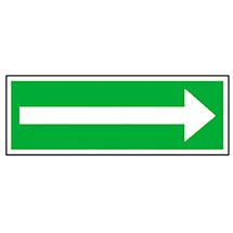Rettungszeichen Richtungspfeil links/rechts lang