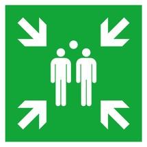 Rettungszeichen – Sammelplatz, nicht langnachleuchtend