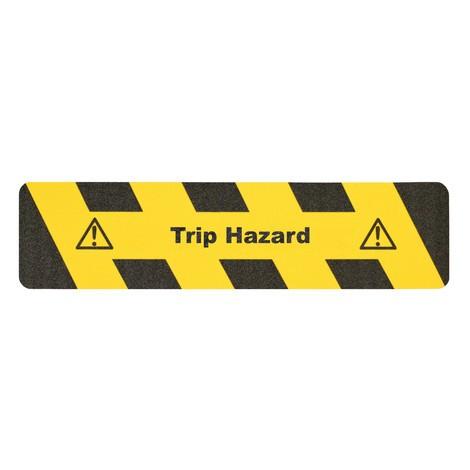 Revêtement antidérapant m2™ «Attention risque de trébuchement»