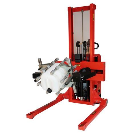 Ribaltatore multi-fusto elettrico, girevole, bracci prensili regolabili
