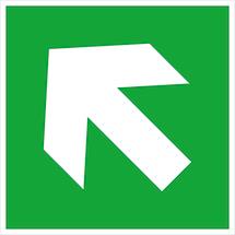 Richtungsangabe in Grün, aufwärts/abwärts-links/rechts