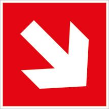 Richtungsangabe in Rot, aufwärts/abwärts-links/rechts