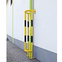 Rohrschutz-Bügel, verzinkt und geschichtet, 15kg, gelb/schwarz