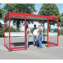 Rokerschuilplaats, volledig gemonteerd, voor 9-10 personen