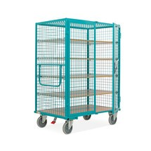 Rolcontainer Ameise®, roosterwanden, turquoise