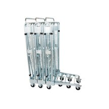 Roll container, 3-sided, with steel base, nestable