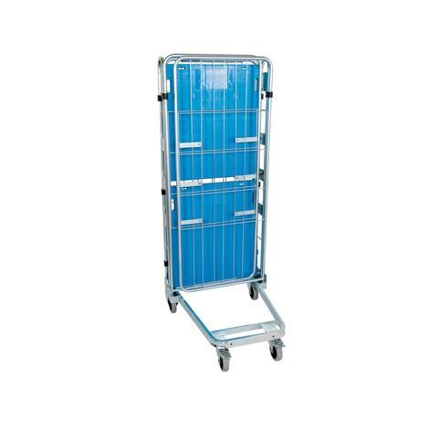 Rollbehälter, 3-seitig, mit Kunststoffboden, nestbar