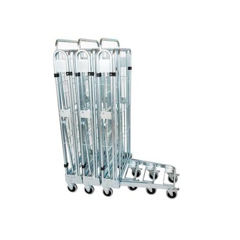 Rollbehälter, 3-seitig, mit Stahlboden, nestbar