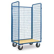 Rollbehälter. 3 Wände + Holzboden. Höhe 1,20 / 1,80m, Tragkraft 600kg