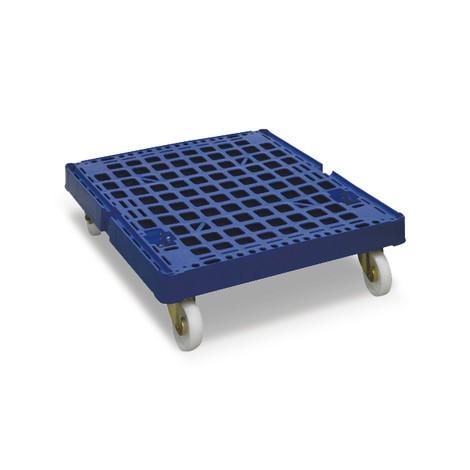 Rollbehälter, 4-seitig, geteilte Vorderwand, Kunststoff-Rollplatte, HxBxT 1.850 x 724 x 815 mm
