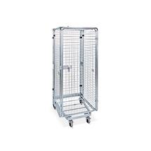 Rollbehälter Antidiebstahl nestbar, 4 seitig, Bodenplatte wahlweise aus Stahl oder Kunststoff