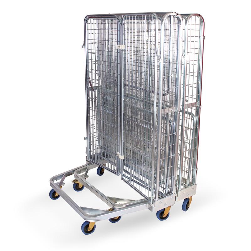 Rollbehälter Antidiebstahl, nestbar. Geschlossen + abschließbar. Tragkraft 500kg