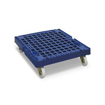 Rollbehälter Classic, 2-seitig, galvanisch verzinkt, Kunststoff-Rollplatte, HxBxT 1.650 x 724 x 815 mm