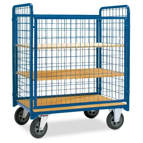 Rollcontainer, 4-seitig, mit einhängbarer Vorderwand + Etagenböden