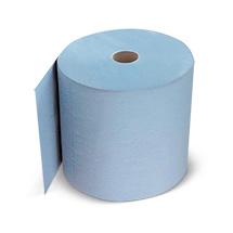 Rolle Putzpapier, blau, 3-lagig, 38x37cm