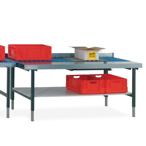 Rollenbaantafel met werkvlak en weegschaal