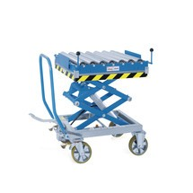 Rollenbahn für Scheren-Hubtischwagen
