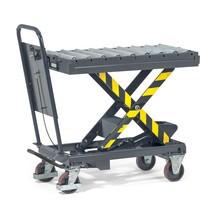 Rollenbahn für Scheren-Hubtischwagen mit Durchrutschsicherung