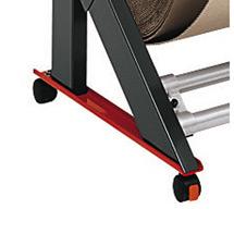Rollenkufen für Schneidständer. Rollengewicht max. 200 kg
