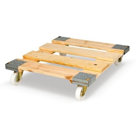 Rollregal, 3-seitig, 3 Zwischenböden, Holz-Rollplatte