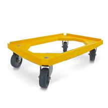 Rollwagen für Stapelkästen 600x400mm, gelb