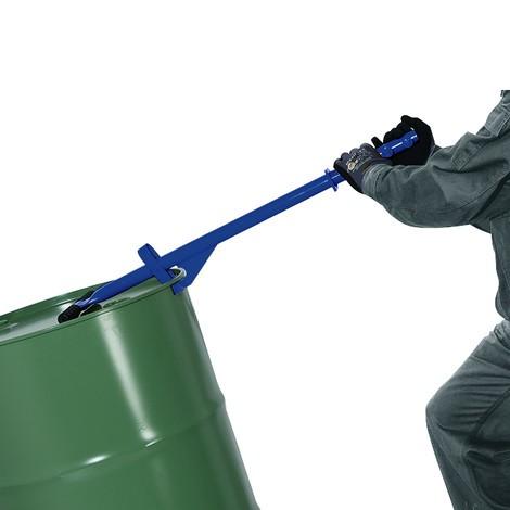 Rolo de barril com haste de tração e alavanca