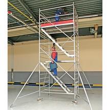 Rolsteiger KRAUSE ® Professional met treden. Tot 10,5 m stahoogte
