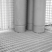 Roštová základna pro kontejner plynových lahví se střecha
