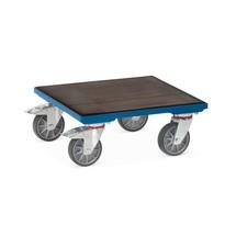 Rouleur à caisses de fetra® avec caoutchouc de pneumatique