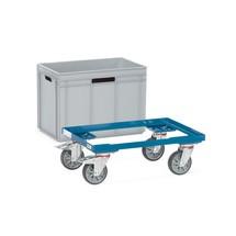 Rouleur pour bacs Euro fetra®, cadre d'acier, capacité de charge 250 kg