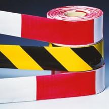 Rubans de signalisation et de délimitation, 80mm x 500m, jaune/noir