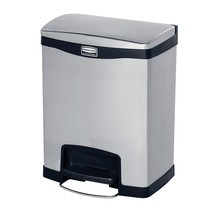 Rubbermaid Slim Jim® - Cubo de basura con pedal