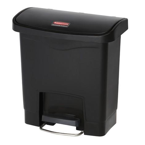 Rubbermaid Slim Jim® - Cubo de basura con pedal lateral ancho