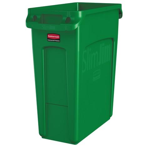 Rubbermaid Slim Jim® recyclingcontainer met ventilatiekanalen